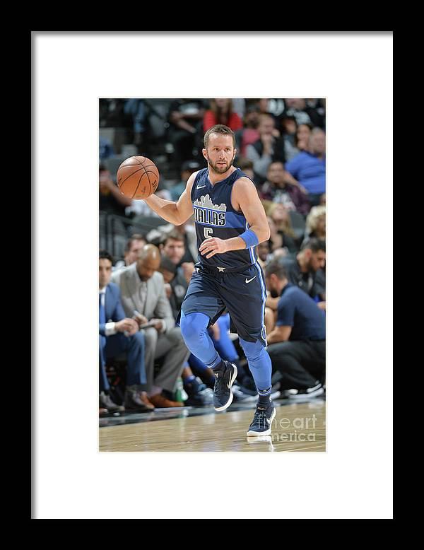 Nba Pro Basketball Framed Print featuring the photograph Dallas Mavericks V San Antonio Spurs by Mark Sobhani