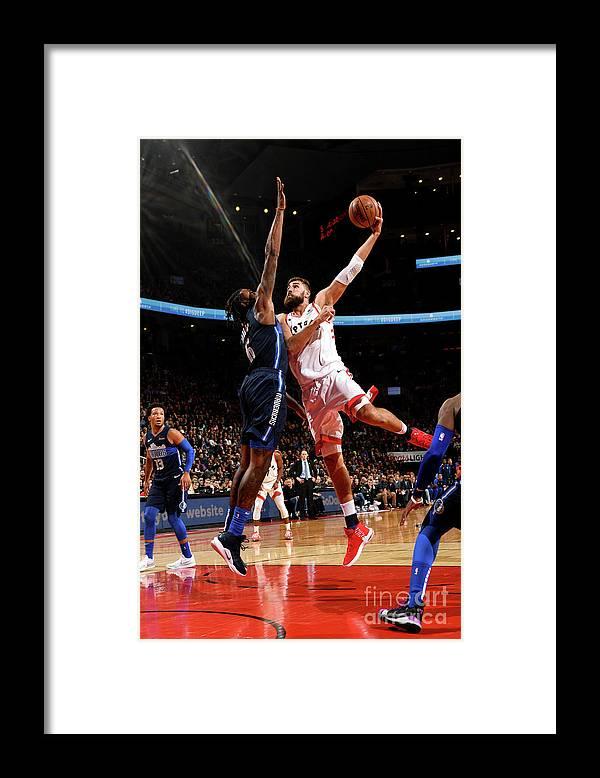 Nba Pro Basketball Framed Print featuring the photograph Dallas Mavericks V Toronto Raptors by Ron Turenne