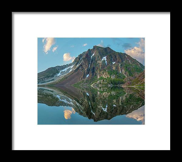 00574869 Framed Print featuring the photograph Dana Plateau From Ellery Lake, Sierra 1 by Tim Fitzharris