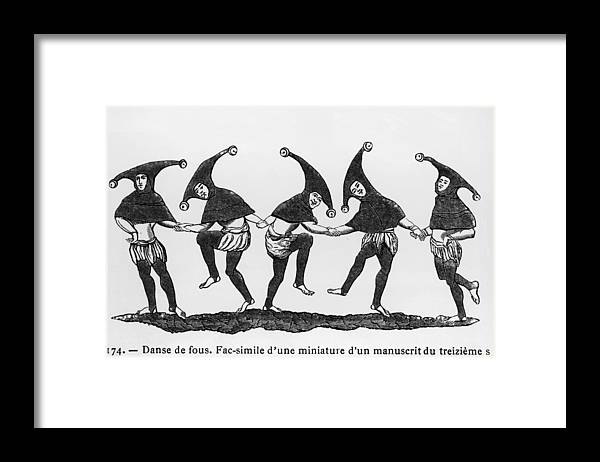 Performance Framed Print featuring the photograph Dance Of The Fools by Hulton Archive