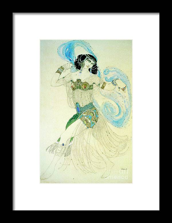 People Framed Print featuring the drawing Dance Of The Seven Veils, 1908. Artist by Heritage Images