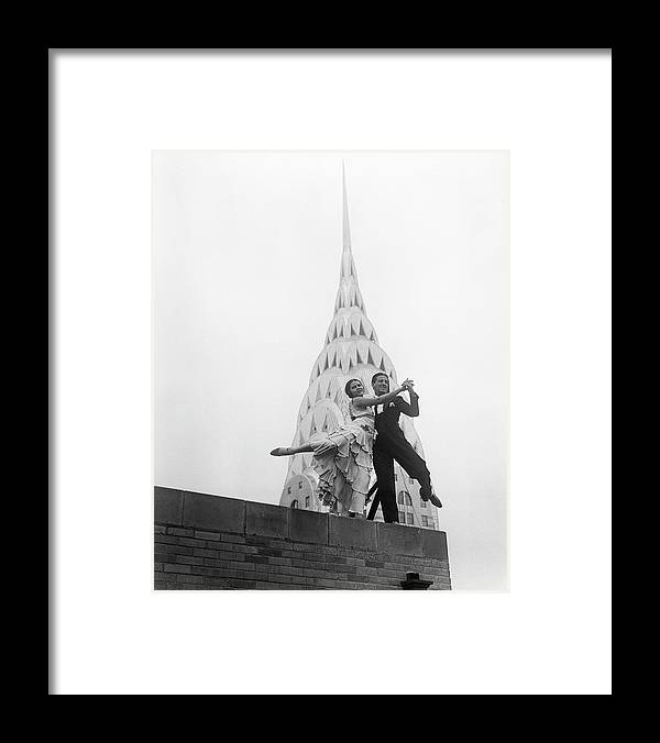 Artist Framed Print featuring the photograph Dancing By The Chrysler Building by Bettmann