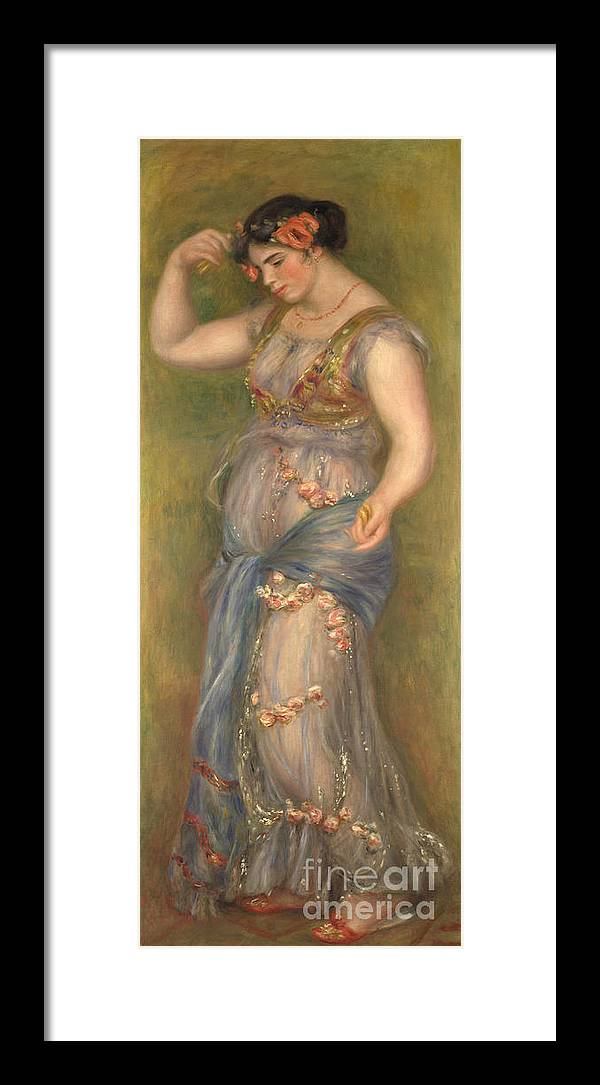 Oil Painting Framed Print featuring the drawing Dancing Girl With Castanets, 1909 by Heritage Images