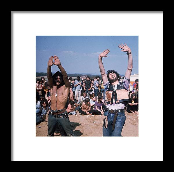 Atmosphere Framed Print featuring the photograph Dancing Hippies by Keystone