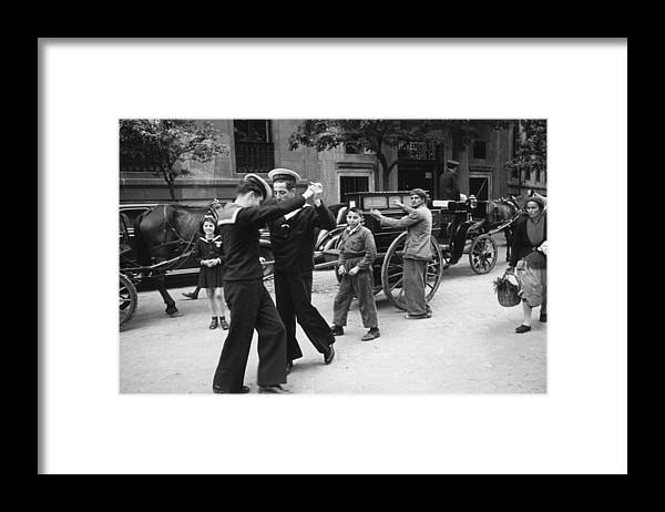 Music Framed Print featuring the photograph Dancing Sailors by Haywood Magee