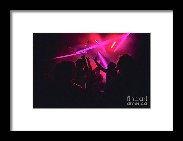 Young Men Framed Print featuring the photograph Dancing The Night Away by Solstock