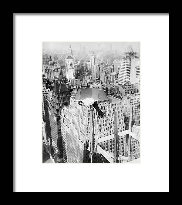 People Framed Print featuring the photograph Daredevil Doing Balancing Act by Bettmann