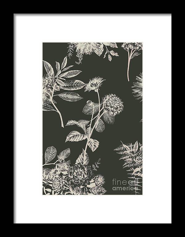 Floral Framed Print featuring the photograph Dark Botanics by Jorgo Photography - Wall Art Gallery