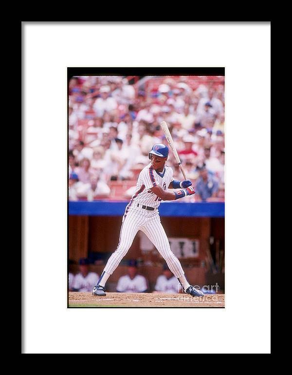 1980-1989 Framed Print featuring the photograph Darryl Strawberry by Getty Images