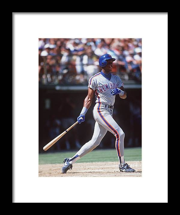 Candlestick Park Framed Print featuring the photograph Darryl Strawberry by Stephen Dunn