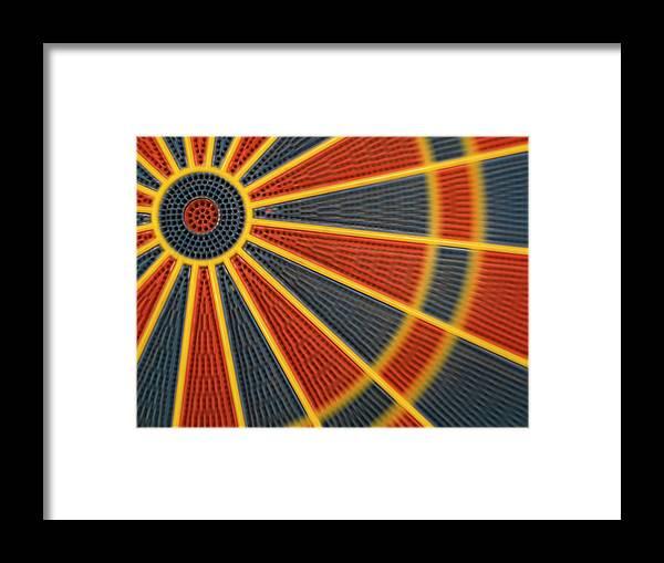 Dartboard Framed Print featuring the photograph Dart by Juan R. Martos