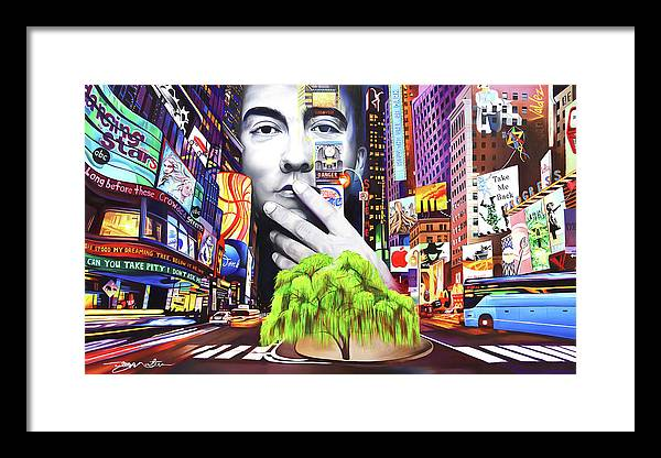 The Dave Matthews Band Framed Print featuring the painting Dave Matthews Dreaming Tree by Joshua Morton