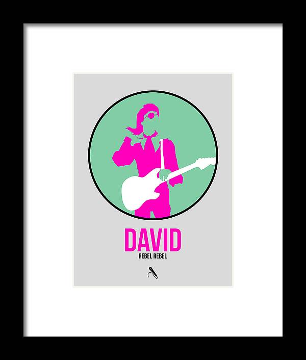 David Bowie Framed Print featuring the digital art David Bowie by Naxart Studio