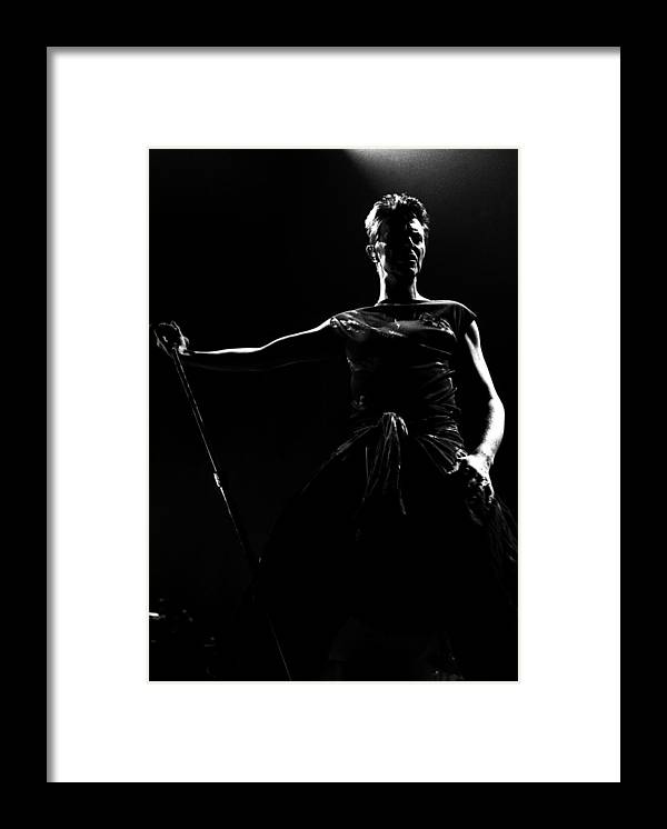 David Bowie Framed Print featuring the photograph David Bowie by Paul Bergen