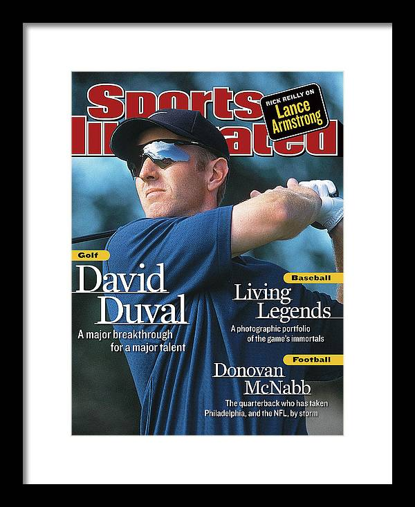Magazine Cover Framed Print featuring the photograph David Duval, 2001 British Open - Final Round Sports Illustrated Cover by Sports Illustrated