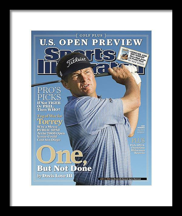 Sports Illustrated Framed Print featuring the photograph Davis Love IIi, 2006 Accenture World Match Play Sports Illustrated Cover by Sports Illustrated
