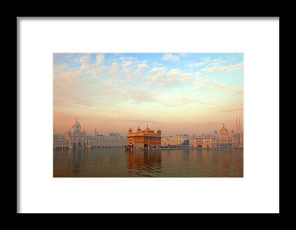 Dawn Framed Print featuring the photograph Dawn At The Golden Temple, Amritsar by Adrian Pope