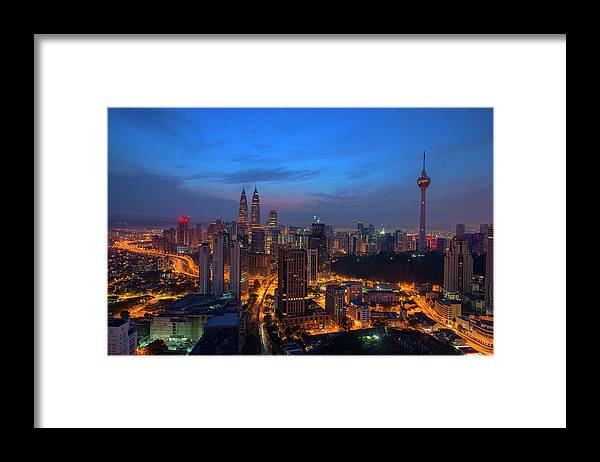 Dawn Framed Print featuring the photograph Dawn Of A New Day In Kuala Lumpur by Copyright © 2013 Nur Ismail Photography.all Rights Reserved