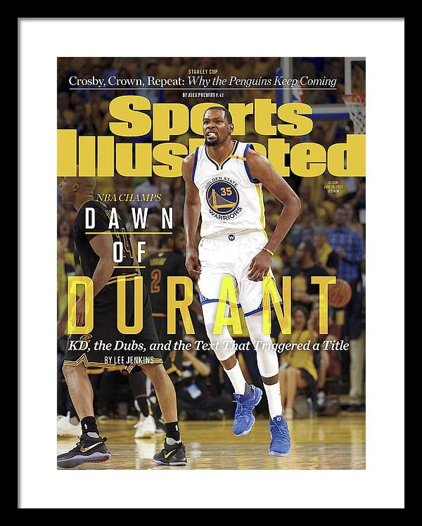 Playoffs Framed Print featuring the photograph Dawn Of Durant Kd, The Dubs, And The Text That Triggered A Sports Illustrated Cover by Sports Illustrated