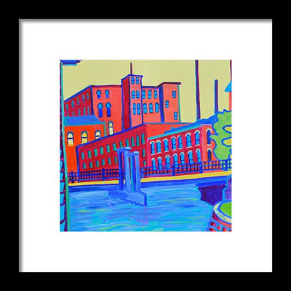 City Framed Print featuring the painting Days in the Waterways by Debra Bretton Robinson