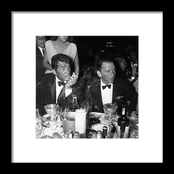 Singer Framed Print featuring the photograph Dean And Frank by Jack Albin
