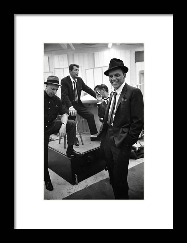 Event Framed Print featuring the photograph Dean Martinsammy Jr. Davisfrank Sinatra by Gjon Mili