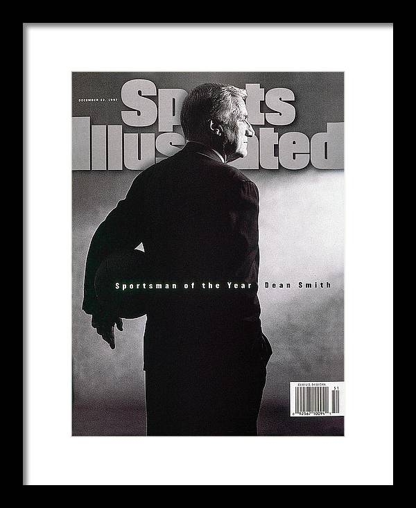 North Carolina Framed Print featuring the photograph Dean Smith 1997 Sportsman Of The Year Sports Illustrated Cover by Sports Illustrated