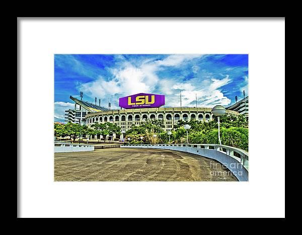 Lsu Framed Print featuring the photograph Death Valley by Scott Pellegrin