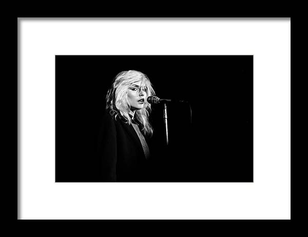 San Francisco Framed Print featuring the photograph Debbie Harry Performs Live by Richard Mccaffrey