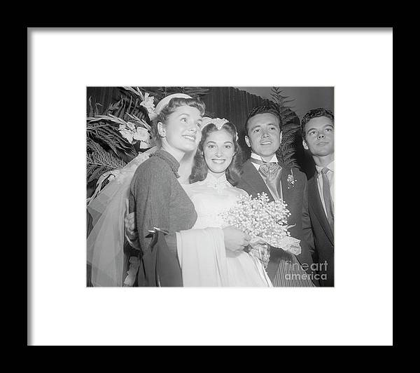 Singer Framed Print featuring the photograph Debbie Reynolds With Pier Angeli by Bettmann