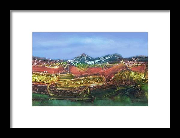 Otto Rapp Framed Print featuring the digital art Decalcomania 2019-05-21 by Otto Rapp