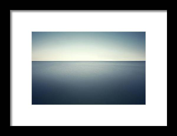 Scenics Framed Print featuring the photograph Deep Blue Sea by Ppampicture
