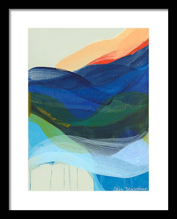 Abstract Framed Print featuring the painting Deep Sleep Undone by Claire Desjardins