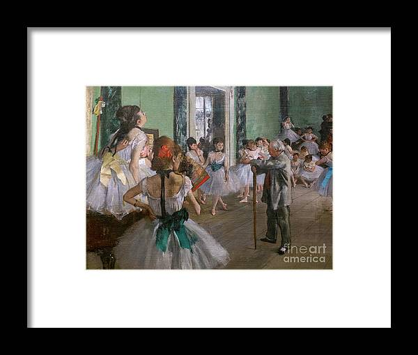Dance Framed Print featuring the painting Degas, The Dance Class Detail by Edgar Degas