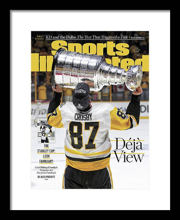 Magazine Cover Framed Print featuring the photograph Deja View. The Stanley Cup Look Familiar Sports Illustrated Cover by Sports Illustrated