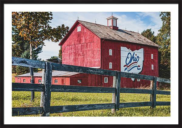 Delaware County Bicentennial Barn - Ohio  by Gregory Ballos