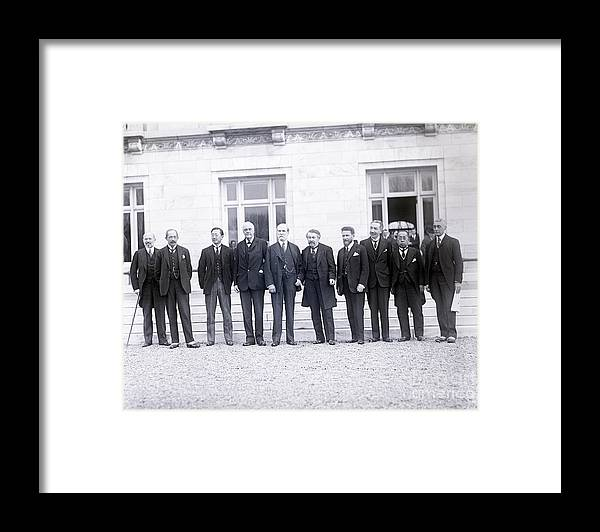 Mature Adult Framed Print featuring the photograph Delegates Attending Conference by Bettmann