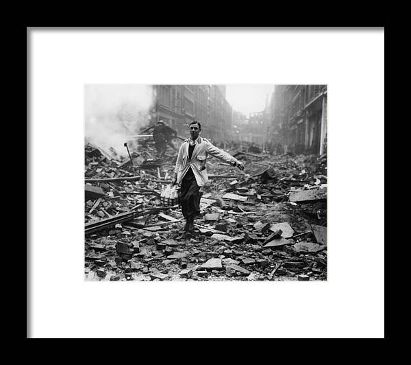 Milk Framed Print featuring the photograph Delivery After Raid by Fred Morley