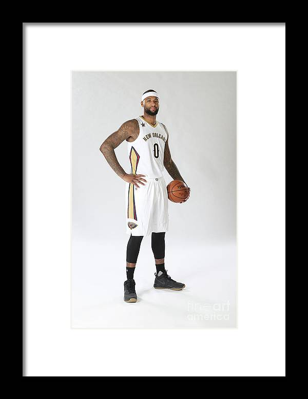 Nba Pro Basketball Framed Print featuring the photograph Demarcus Cousins Portraits by Layne Murdoch