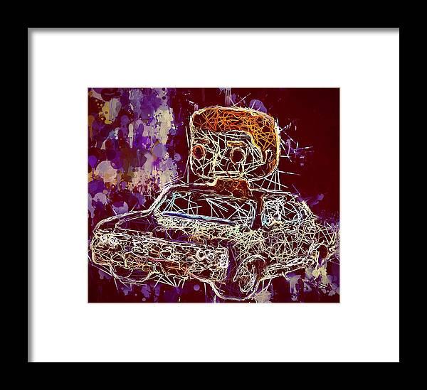 Funko Pop Framed Print featuring the mixed media Dean Winchester Car Supernatural Pop by Al Matra