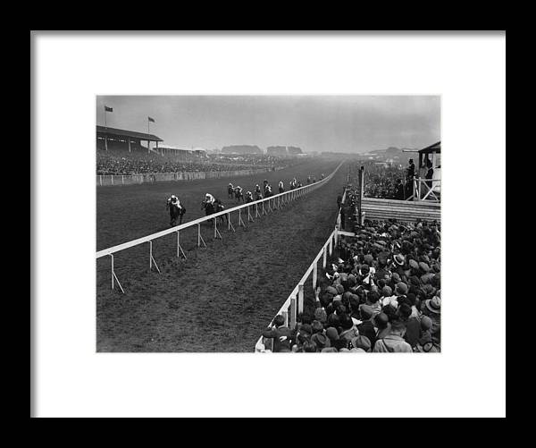 Horse Framed Print featuring the photograph Derby Day Winner by Central Press