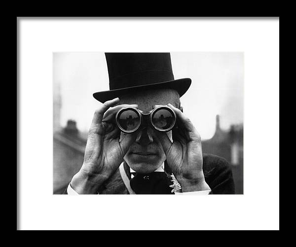People Framed Print featuring the photograph Derby Spectator by Topical Press Agency