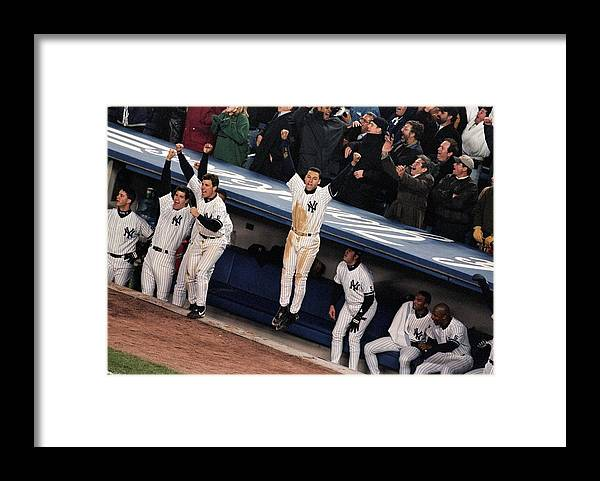Celebration Framed Print featuring the photograph Derek Jeter 2 by Jamie Squire
