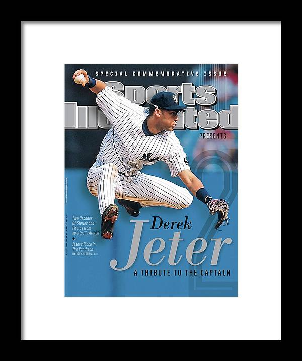 American League Baseball Framed Print featuring the photograph Derek Jeter A Tribute To The Captain Sports Illustrated Cover by Sports Illustrated