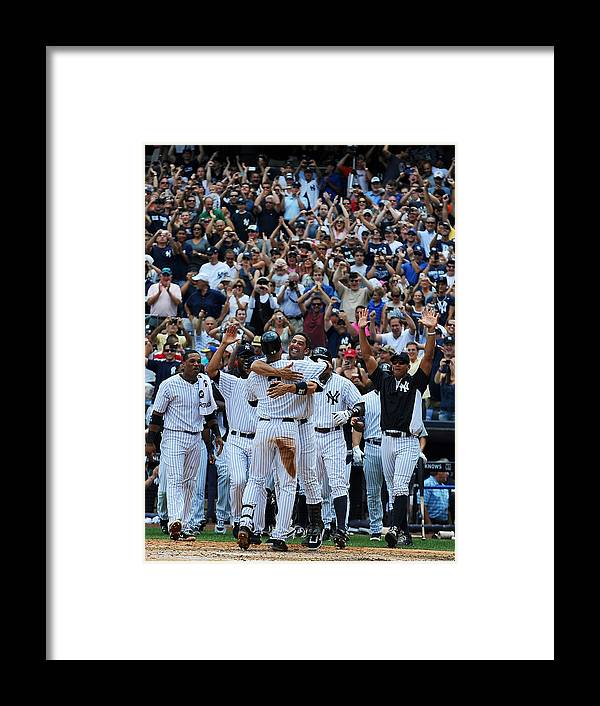 American League Baseball Framed Print featuring the photograph Derek Jeter by New York Daily News