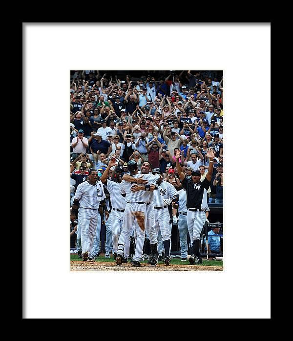 American League Baseball Framed Print featuring the photograph Derek Jeter by New York Daily News