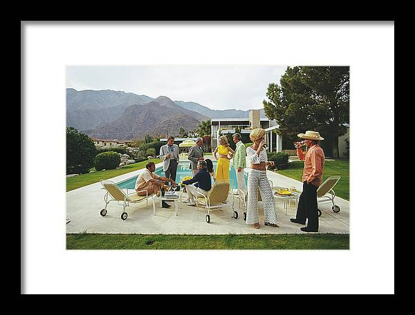 People Framed Print featuring the photograph Desert House Party by Slim Aarons