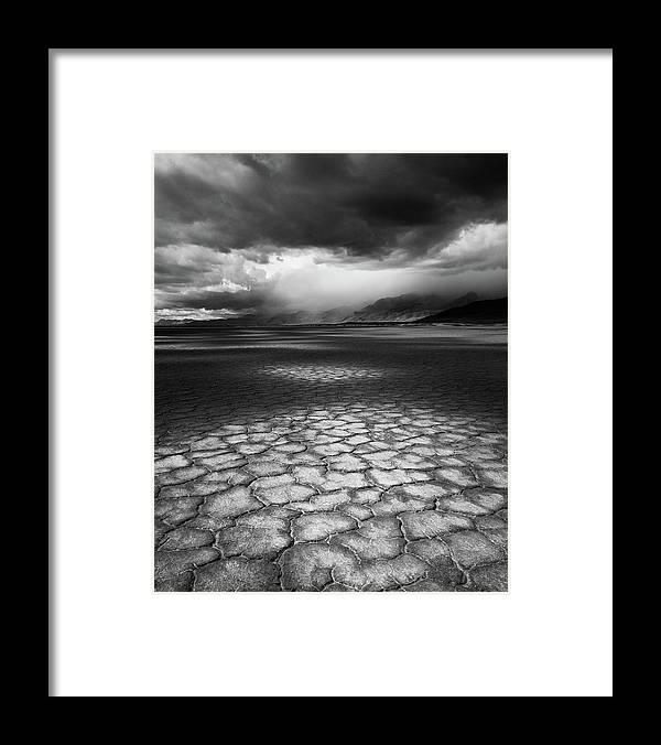 Outdoors Framed Print featuring the photograph Desert Storm by Tim Gallivan