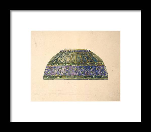 Car Framed Print featuring the painting Design For Floral Lamp Louis Comfort Tiffany American, New York 1848-1933 New York by Louis Comfort Tiffany