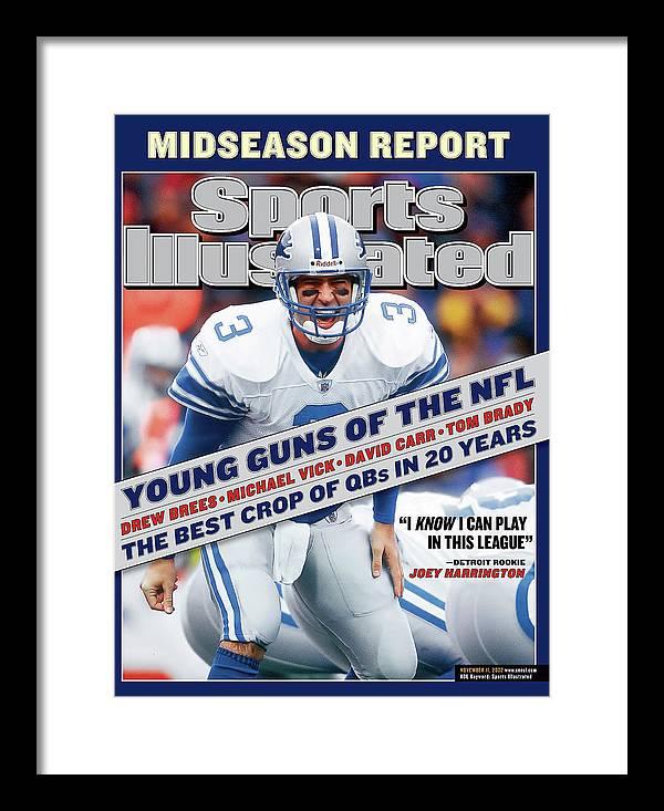 Magazine Cover Framed Print featuring the photograph Detroit Lions Qb Joey Harrington... Sports Illustrated Cover by Sports Illustrated